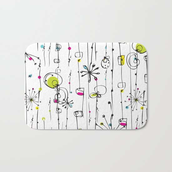 Quirky Icons Bath Mat