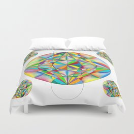 Twinkle Star - The Sacred Geometry Collection Duvet Cover