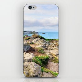 Carrick-a-rede coast iPhone Skin