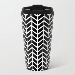 Black & White Chevron Arrowheads Travel Mug