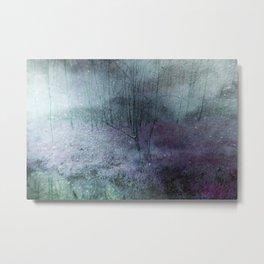 foggy and snowy wood Metal Print