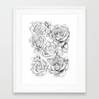 roses Framed Art Prints featuring roses by iphigenia myos