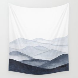 Watercolor Mountains Wall Tapestry