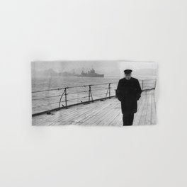 Winston Churchill At Sea Hand & Bath Towel