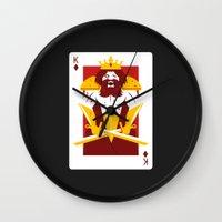 berserk Wall Clocks featuring King of Diamonds - Berseker King by Thirdway Industries Shop