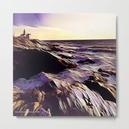 Jamestown Lighthouse, Jamestown RI Metal Print