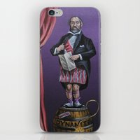 haunted mansion iPhone & iPod Skins featuring Haunted Mansion Portrait: Dynomite by Jonathan R. Lopez