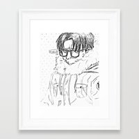shingeki no kyojin Framed Art Prints featuring Levi // Shingeki No Kyojin by BucketsofBroke
