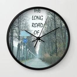 The long road of life Wall Clock