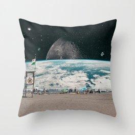PLANET BEACH Throw Pillow