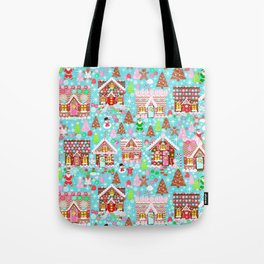 Gingerbread House Christmas Winter Candy, sweets.christmas gift, holiday gift for kids of all ages, Tote Bag