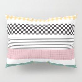 Mixed Pattern Stripe Print Color Blocking Pillow Sham