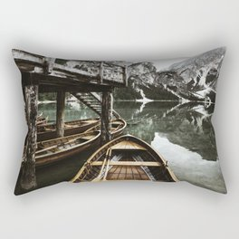 braies lake Rectangular Pillow