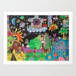 Karallusions Land Art Print