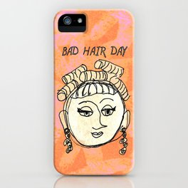 Bad Hair Day iPhone Case