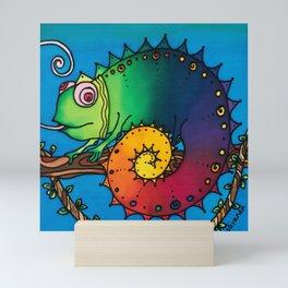 Aren't ALL Chameleons Called George? Mini Art Print