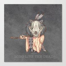 Long live the dead - Raccoon Canvas Print