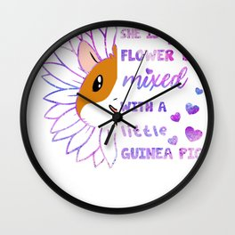 She Is Flower Mixed With A Little Guinea Pig Wall Clock