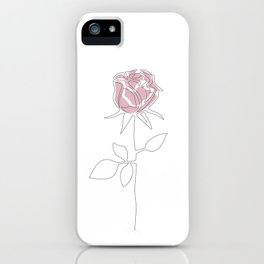 One Line Rose iPhone Case
