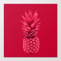 pineapple Canvas Prints featuring Pineapple by Simi Design