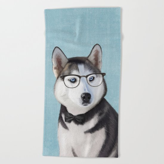 Mr Husky Beach Towel