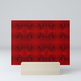 Soft and Solid Red Roses Repeating Pattern Mini Art Print