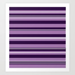 Purple  Stripes Art Print