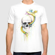 Adventure through Time and Face MEDIUM Mens Fitted Tee White