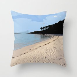 Scilly Isles Paradise Throw Pillow