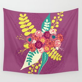 Violet flower bunch Wall Tapestry