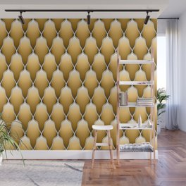 Gold Scallops Wall Mural