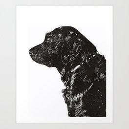 Black Lab Print Art Print