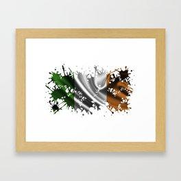 Irish Splatter Framed Art Print