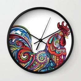Bright Cockerel Wall Clock