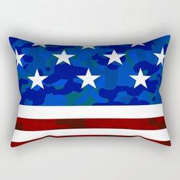 Stars & Stripes (Camouflage) Rectangular Pillow