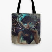 loish Tote Bags featuring Scales by loish