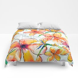 Beautiful tropical things Comforters