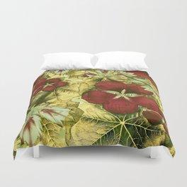 nasturtium with golden leaves Duvet Cover