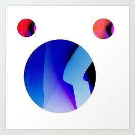 SexyPlexi dots  3 moons  Art Print