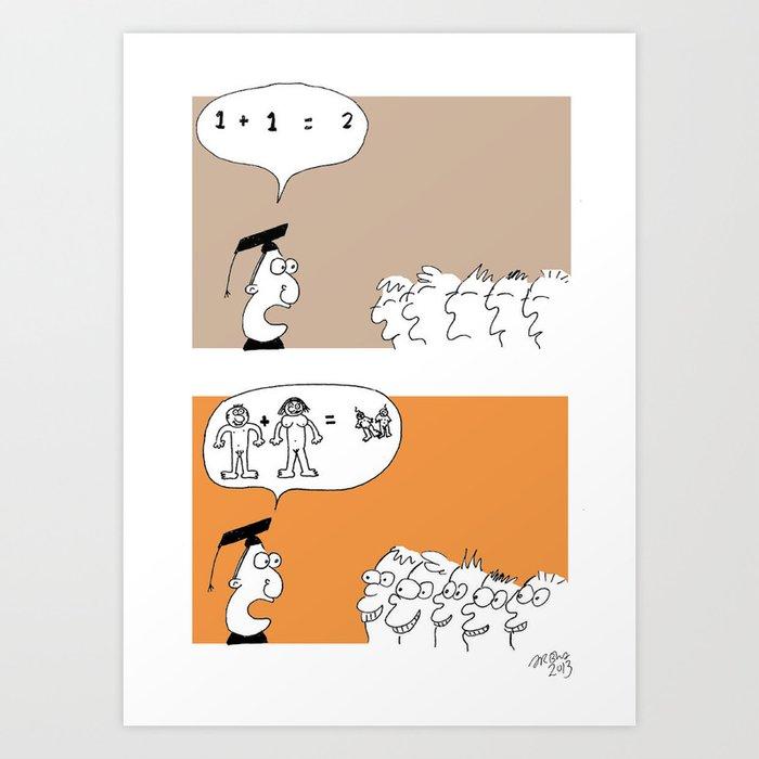 How to teach kids Art Print by sambackhouse