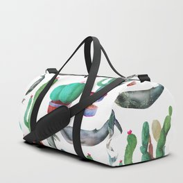 Cactus and Whales Duffle Bag