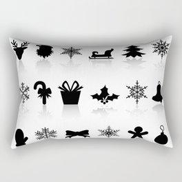 Christmas symbols Rectangular Pillow