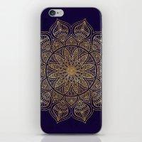 xbox iPhone & iPod Skins featuring Gold Mandala by Mantra Mandala