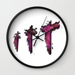 Three Crosses at Golgotha Wall Clock