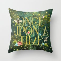 Bee Once Upon a Time Throw Pillow