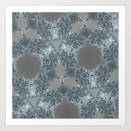 fractal melt Art Print