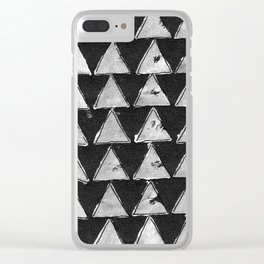 Triangles black & white Clear iPhone Case