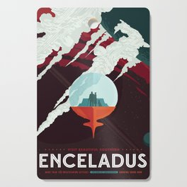 NASA Retro Space Travel Poster #3 - Enceladus Cutting Board