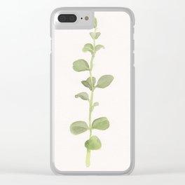 Single Stem Clear iPhone Case