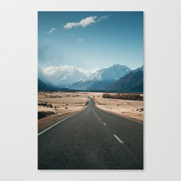 Road to Mt Cook, New Zealand Canvas Print